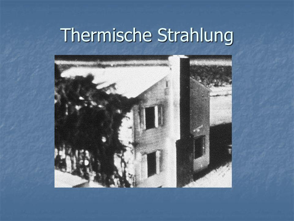 Thermische Strahlung (Annahme einer Bombe mit der fünffachen Sprengkraft von Nagasaki) Radien ca.