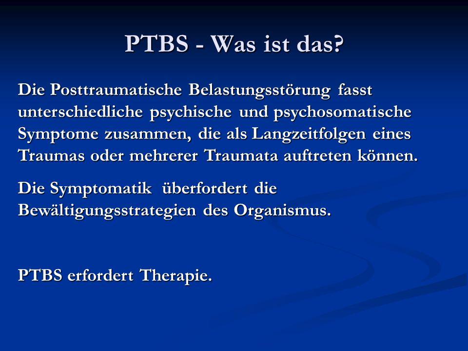 PTBS - Was ist das.
