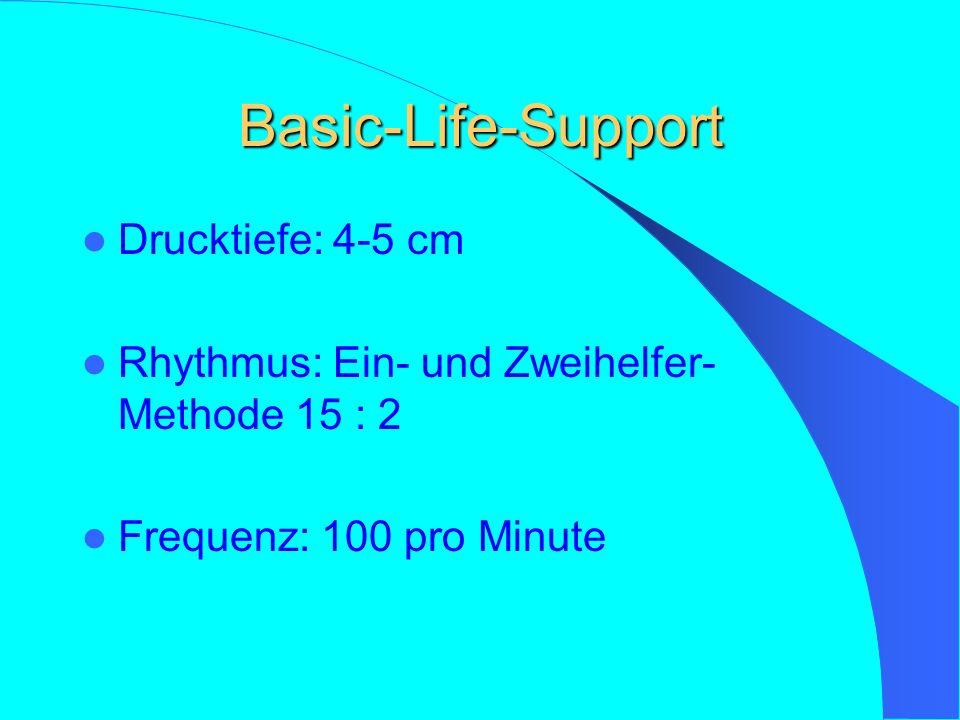 BLS Algorhythmus Bewusstsein prüfen Atemwege freimachen Kreislauf überprüfen Beatmen Atmung überprüfen Kreislauf vorhanden Beatmung fortsetzen Kein Kr