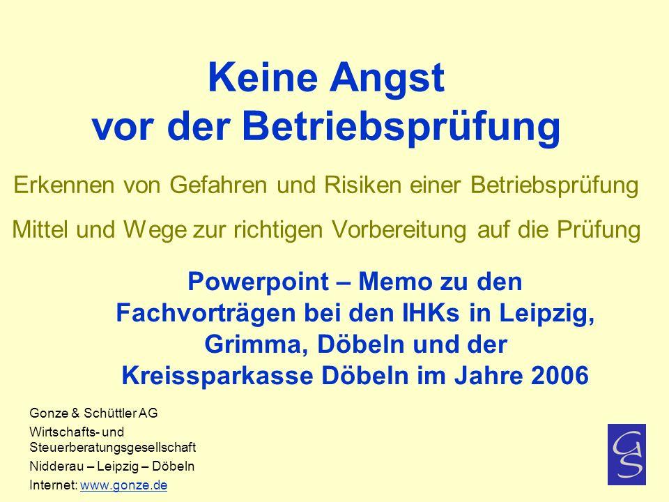 Chronologischer Ablauf der Betriebsprüfung 1.
