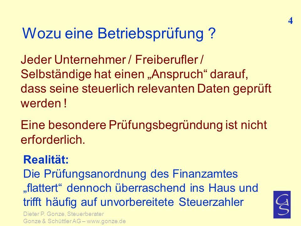 Kurzinfo zum Steuerstrafrecht Grundsätzliche Erkenntnisse 75 Dieter P.