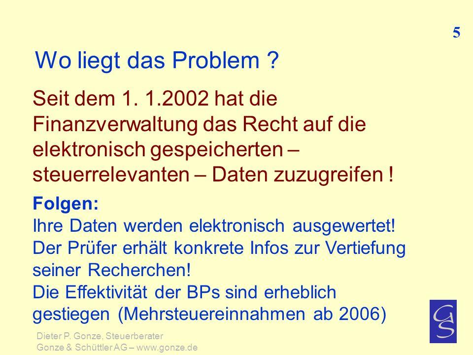 Chronologischer Ablauf der Betriebsprüfung 26 Dieter P.