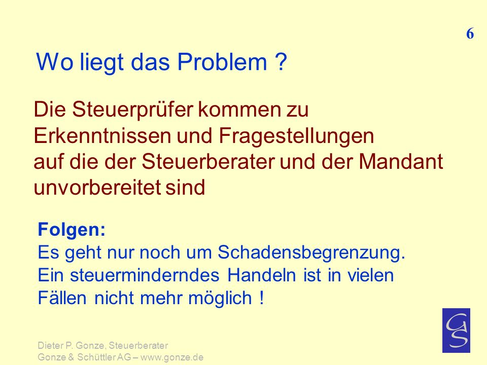 Wo liegt das Problem .