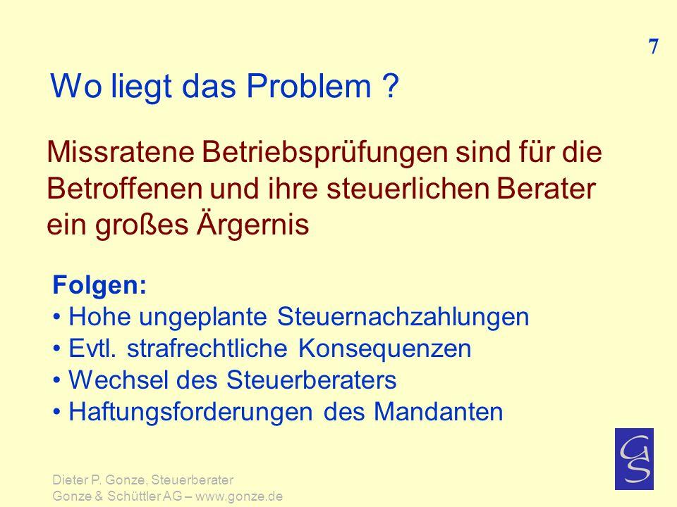 Was kann der Steuerberater frühzeitig tun .Konkrete Handlungsempfehlungen 68 Dieter P.