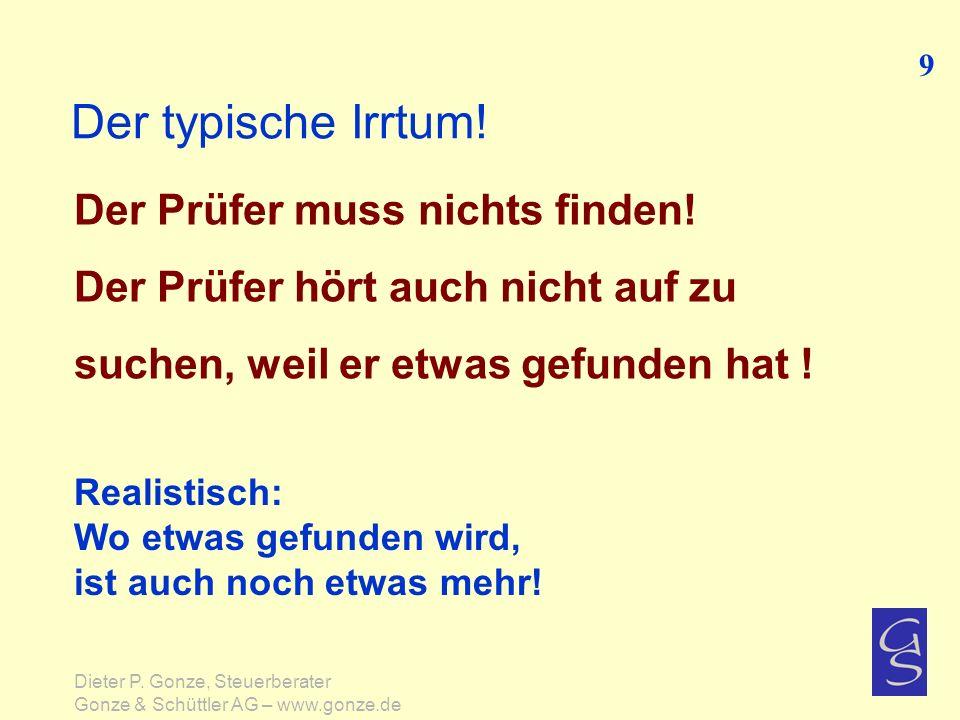 Chronologischer Ablauf der Betriebsprüfung 30 Dieter P.