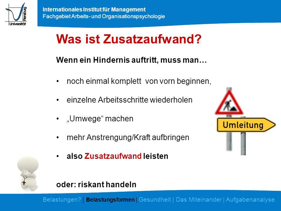 Internationales Institut für Management Fachgebiet Arbeits- und Organisationspsychologie 3.