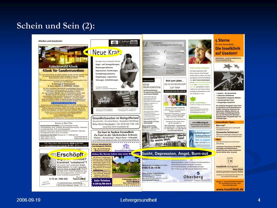 2006-09-19 3Lehrergesundheit Schein und Sein (1):