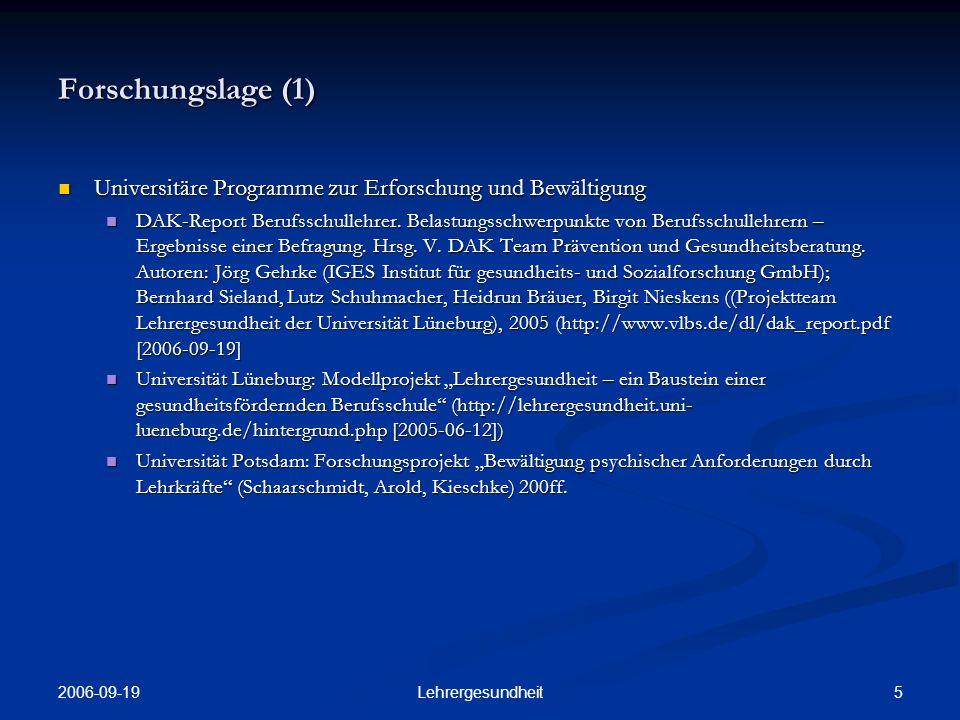 2006-09-19 4Lehrergesundheit Schein und Sein (2):