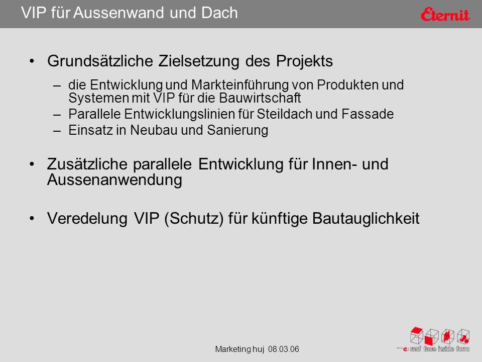 Marketing huj 08.03.06 VIP für Aussenwand und Dach Modularer Aufbau für entsprechende Nacharbeitung bzw.