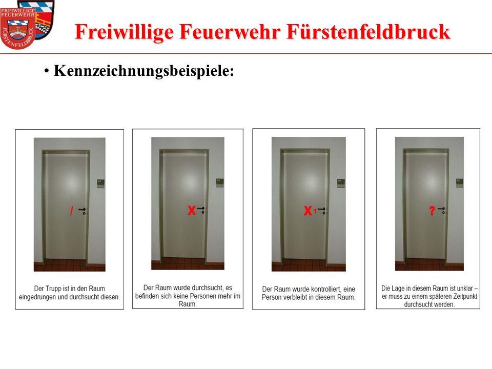 Freiwillige Feuerwehr Fürstenfeldbruck Kennzeichnungsbeispiele: