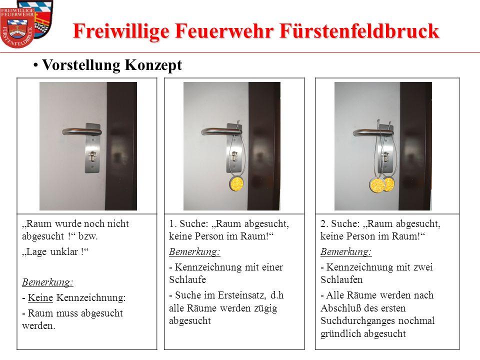 Freiwillige Feuerwehr Fürstenfeldbruck Vorstellung Konzept Raum wurde noch nicht abgesucht ! bzw. Lage unklar ! Bemerkung: - Keine Kennzeichnung: - Ra