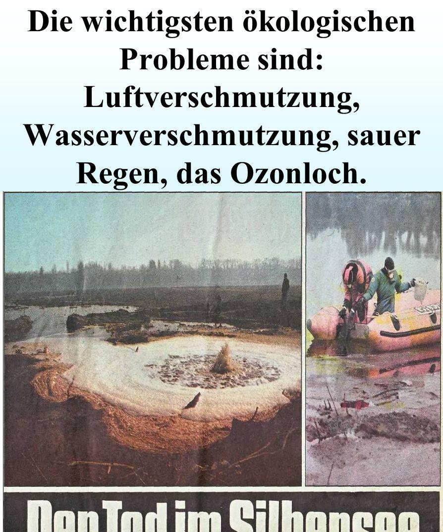 Die Umweltverschmutzung ist für alle gefährlich. Umwelt auf