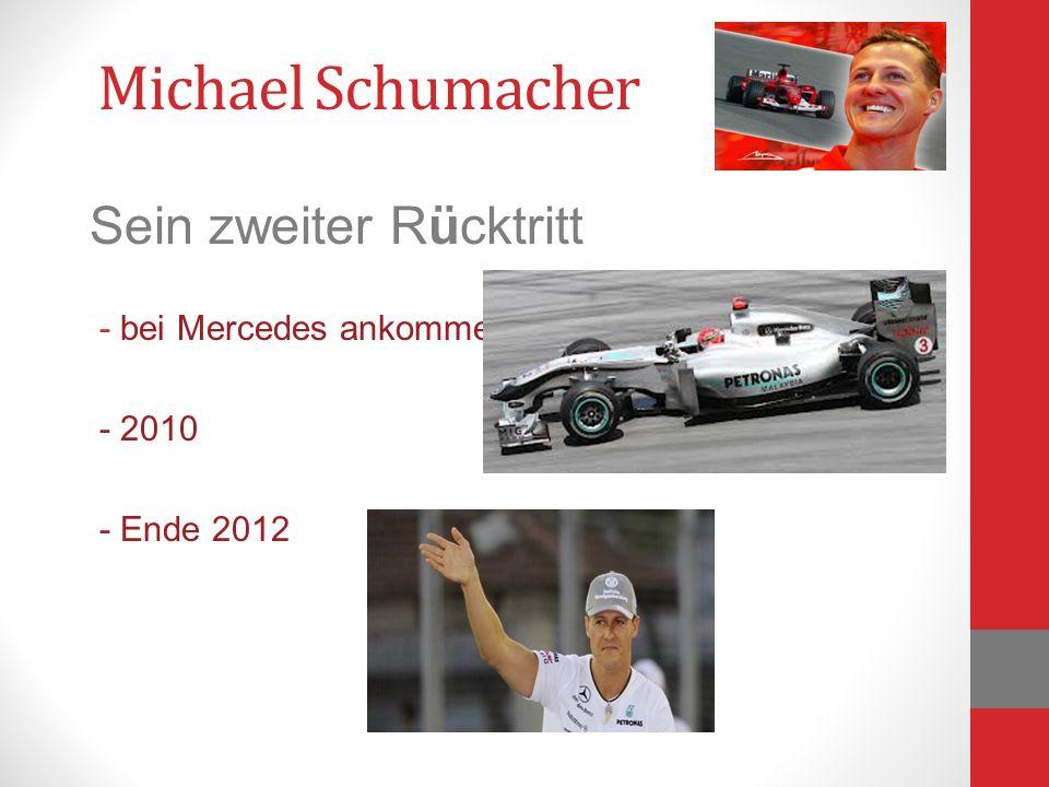 Michael Schumacher Sein zweiter Rücktritt - bei Mercedes ankommen - 2010 - Ende 2012