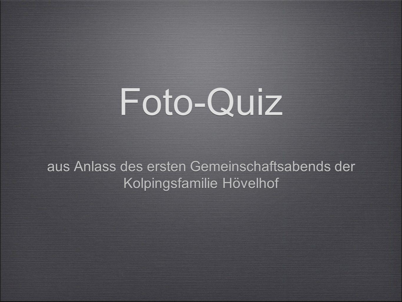Foto-Quiz aus Anlass des ersten Gemeinschaftsabends der Kolpingsfamilie Hövelhof