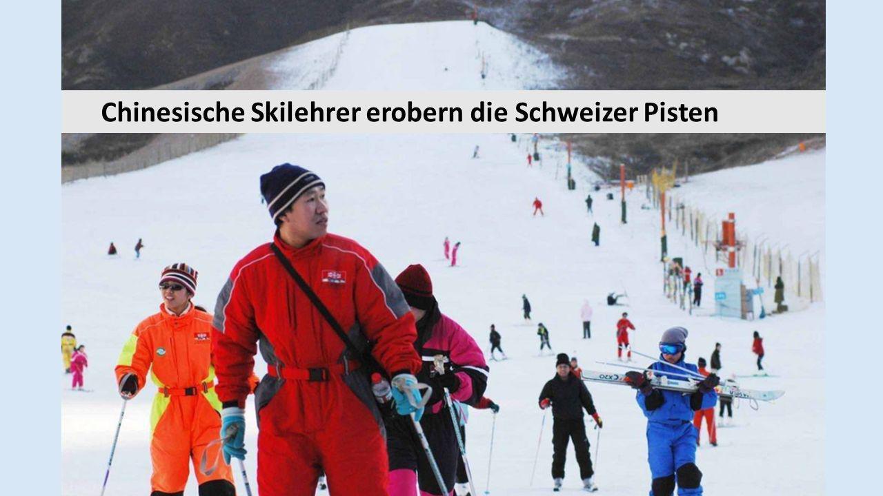 Chinesische Skilehrer erobern die Schweizer Pisten