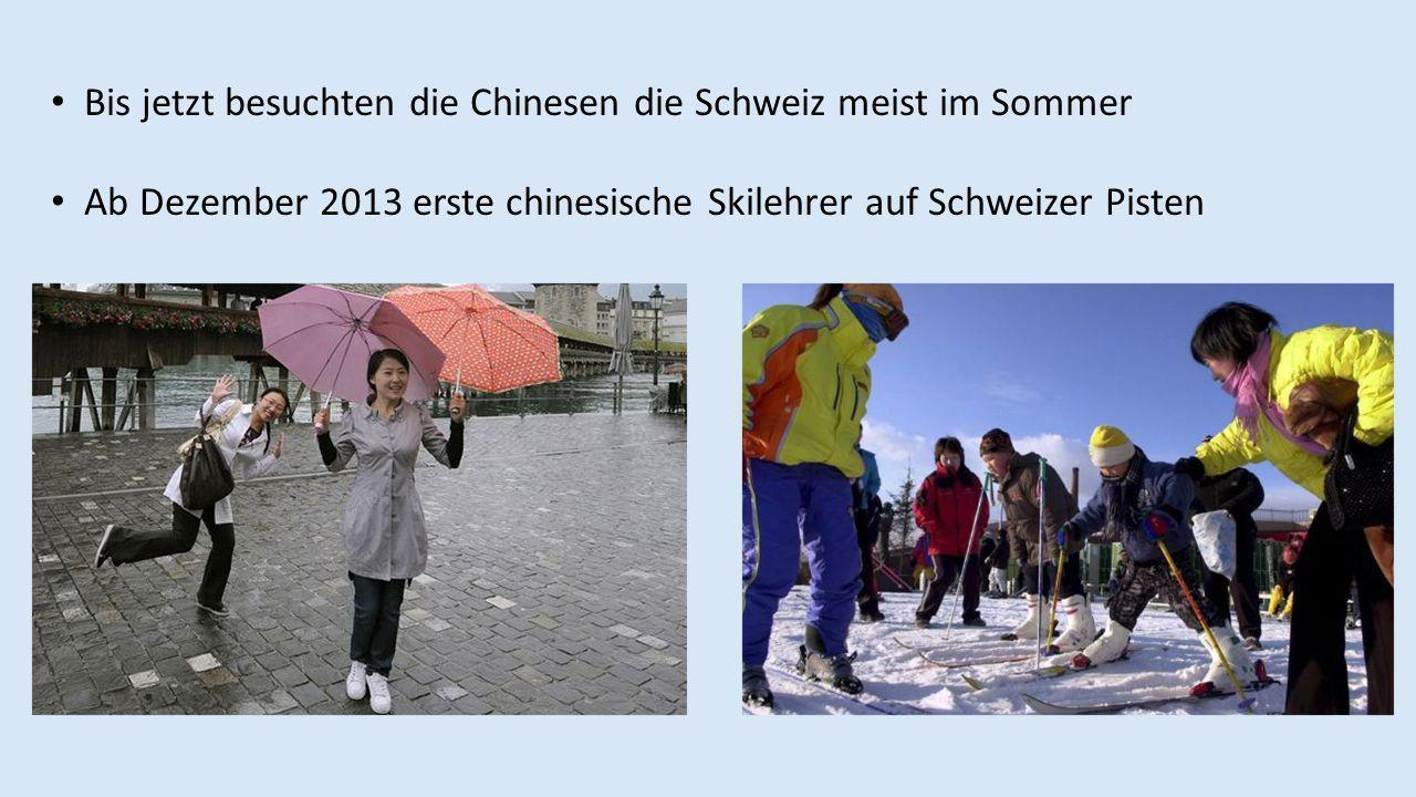 Bis jetzt besuchten die Chinesen die Schweiz meist im Sommer Ab Dezember 2013 erste chinesische Skilehrer auf Schweizer Pisten