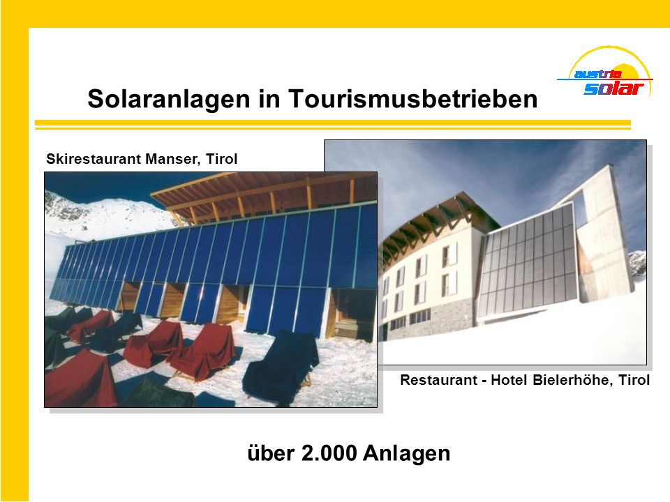 Neue Märkte: Solare Sanierungen … bei Heimen VORHER NACHHER