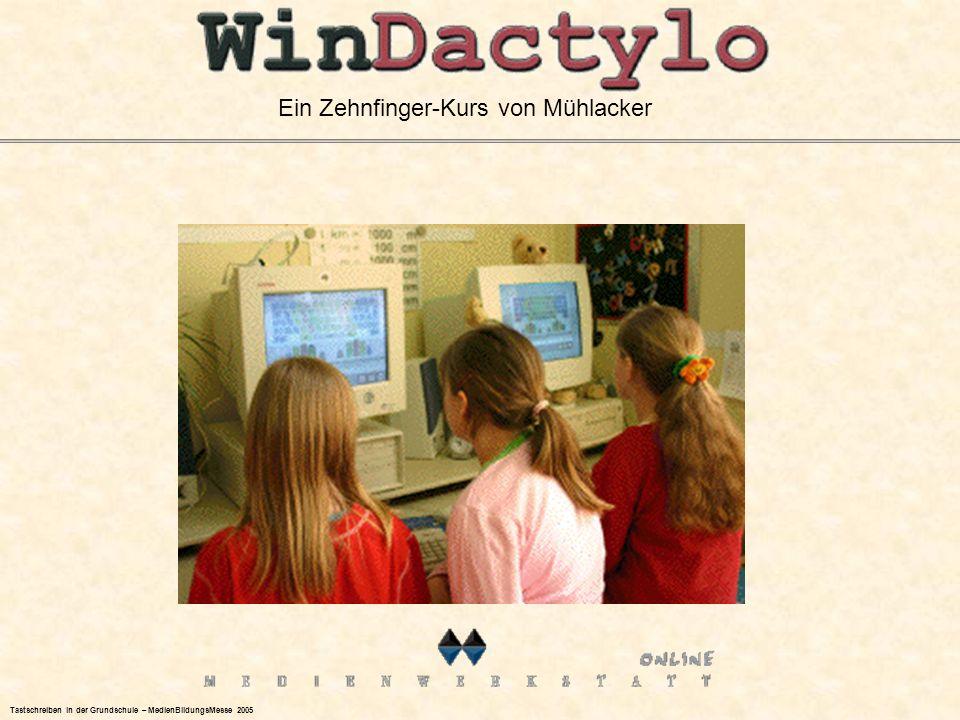 Ein Zehnfinger-Kurs von Mühlacker Tastschreiben in der Grundschule – MedienBildungsMesse 2005
