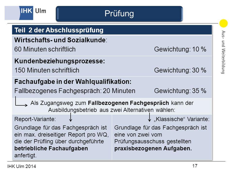 IHK Ulm 2014 17 Prüfung