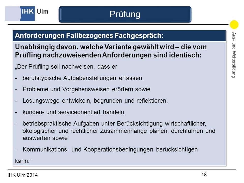 IHK Ulm 2014 18 Prüfung