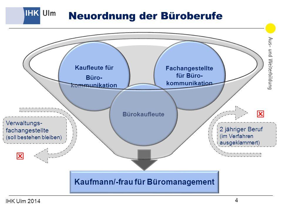 IHK Ulm 2014 15 Prüfung