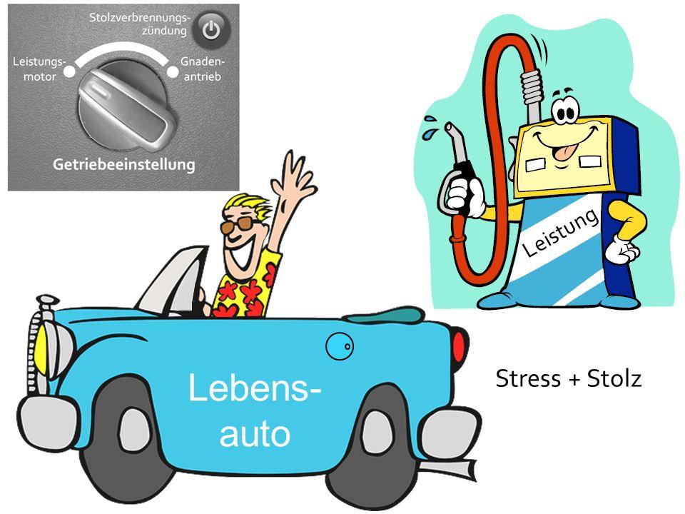 Lebens- auto Leistung Stress + Stolz