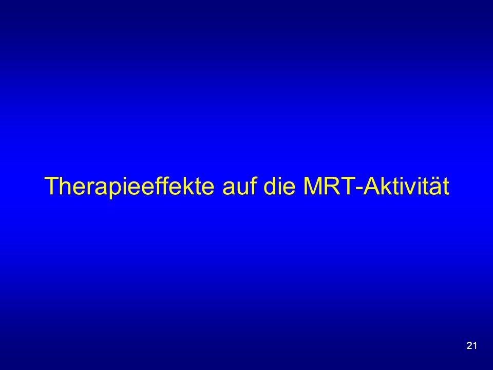 21 Therapieeffekte auf die MRT-Aktivität