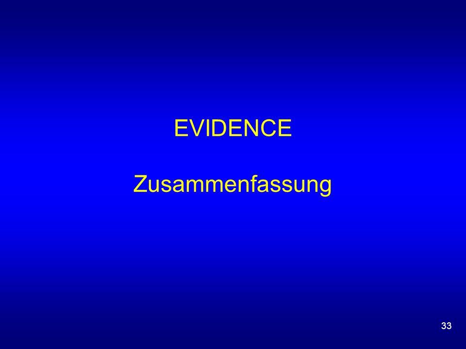 33 EVIDENCE Zusammenfassung