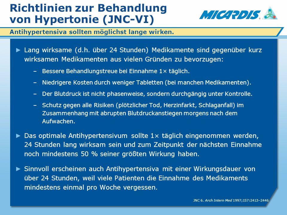 Richtlinien zur Behandlung von Hypertonie (JNC-VI) Lang wirksame (d.h.