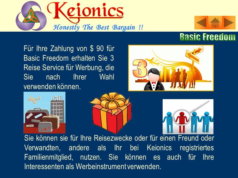 Basic Freedom ist für ernsthafte Mitglieder, die nach einem wahren monatlichen Karriere Einkommen suchen.