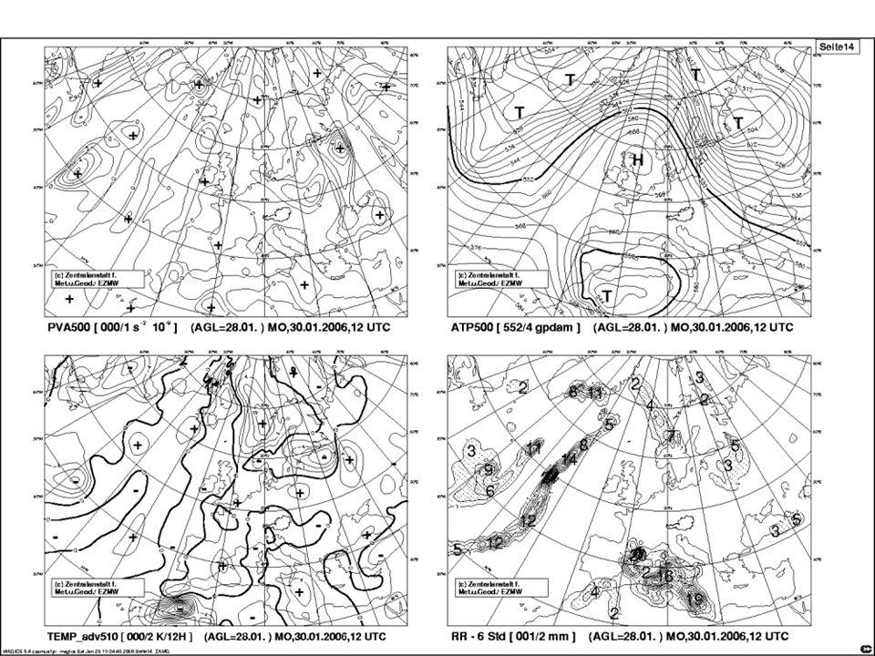 Ausformulierung der Prognose Der Meteorologe/in hat im Kopf wie das Wetter in Österreich gerade ist.
