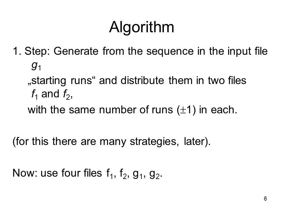 6 Algorithm 1.