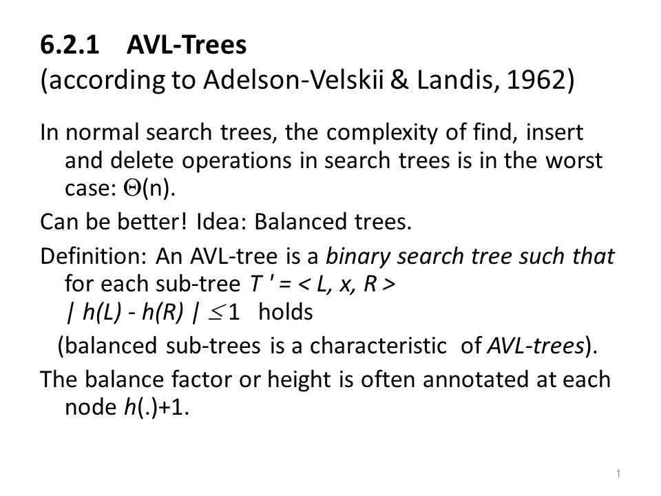 2 |Height(I) – hight(D)| < = 1 This is an AVL tree