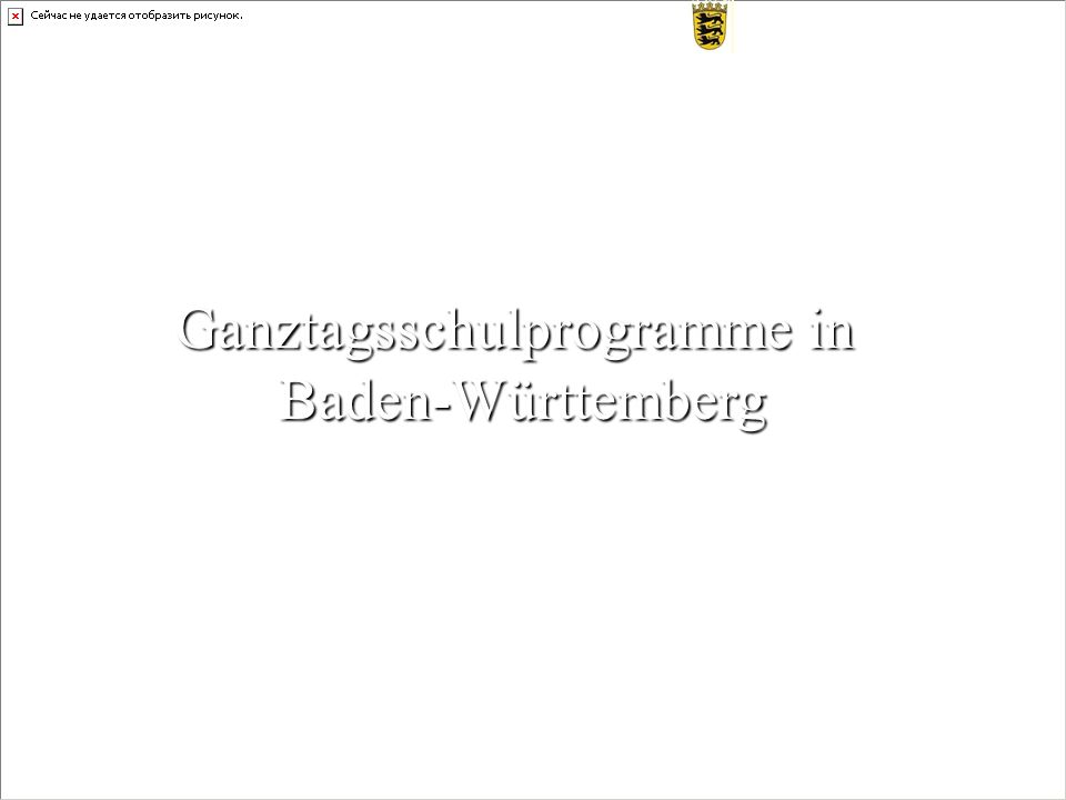 Ganztagsschulprogramme in Baden-Württemberg S T A A T L I C H E S S C H U L A M T M A N N H E I M