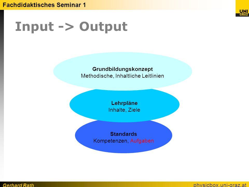 Gerhard Rath Fachdidaktisches Seminar 1 physicbox.uni-graz.at Scientific Literacy (PISA 2006) 5 Kompetenzbereiche Naturwissenschaftliche Fragestellungen erkennen.