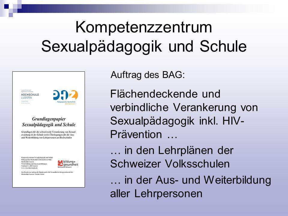 Kompetenzzentrum Sexualpädagogik und Schule Flächendeckende und verbindliche Verankerung von Sexualpädagogik inkl. HIV- Prävention … … in den Lehrplän