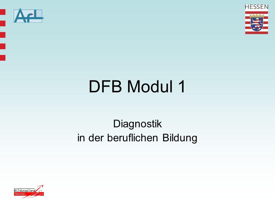 DFB Modul 1 Diagnostik in der beruflichen Bildung