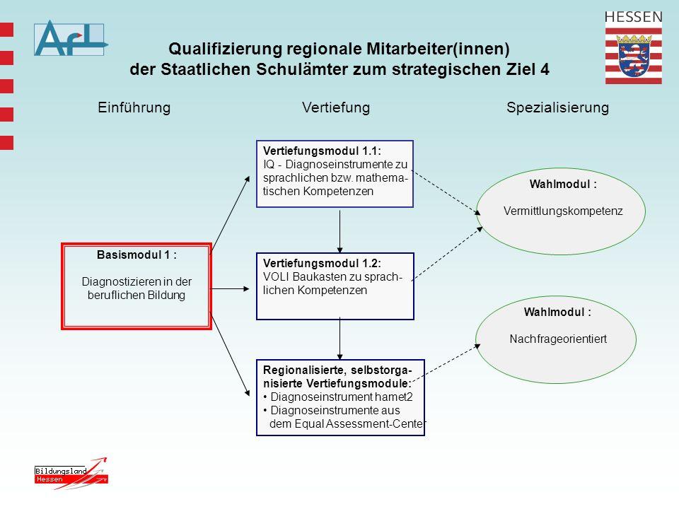Qualifizierung regionale Mitarbeiter(innen) der Staatlichen Schulämter zum strategischen Ziel 4 Basismodul 1 : Diagnostizieren in der beruflichen Bild