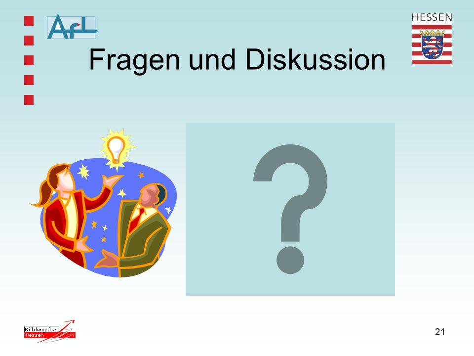 21 Fragen und Diskussion