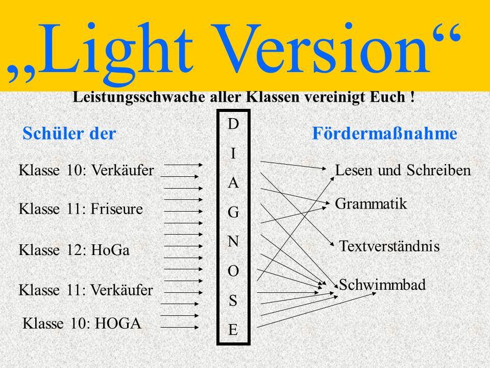 Light Version Leistungsschwache aller Klassen vereinigt Euch .