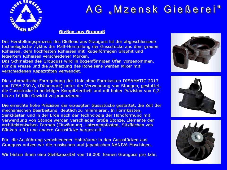 Gießen aus Grauguß Der Herstellungsprozess des Gießens aus Grauguss ist der abgeschlossene technologische Zyklus der Maß-Herstellung der Gussstücke au