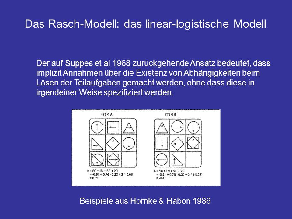 Der auf Suppes et al 1968 zurückgehende Ansatz bedeutet, dass implizit Annahmen über die Existenz von Abhängigkeiten beim Lösen der Teilaufgaben gemac
