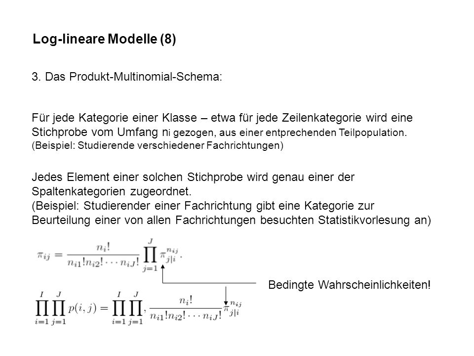 Log-lineare Modelle (8) 3.