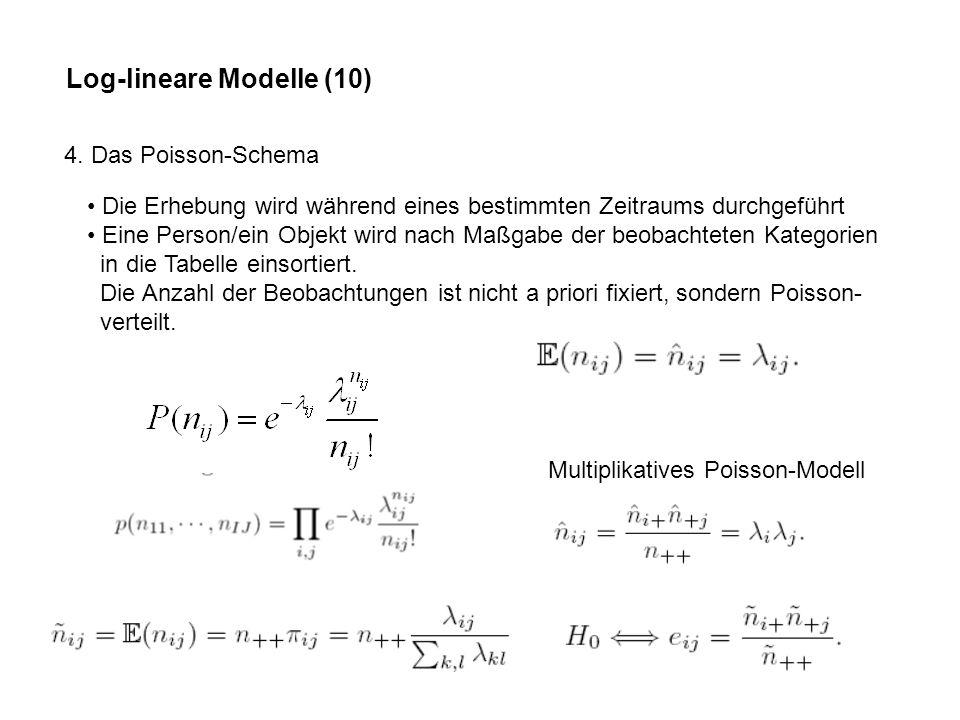 Log-lineare Modelle (10) 4.