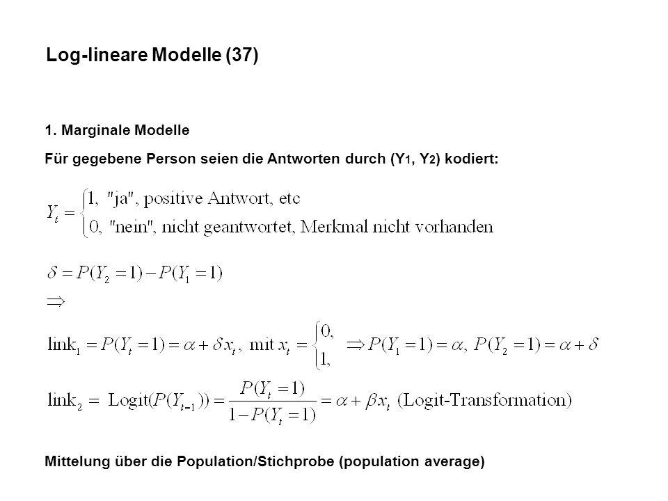 Log-lineare Modelle (37) 1.