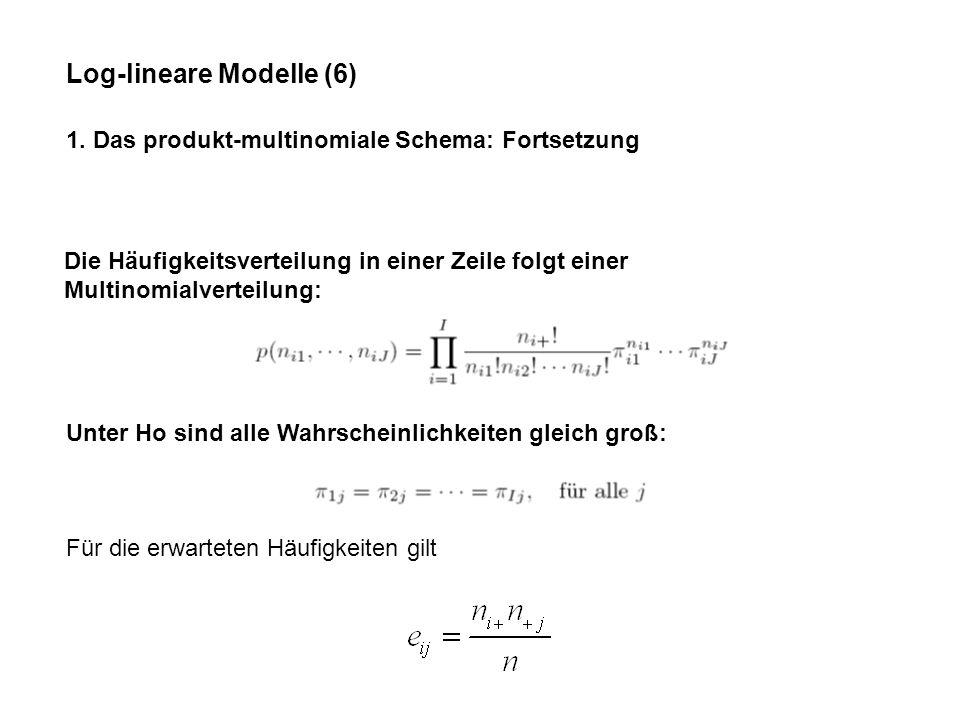 Log-lineare Modelle (6) 1.