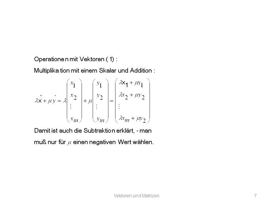 Eigenvektoren und Eigenwerte: An diesen Gleichungen erkennt man, dass P Eigenvektoren und Lambda Eigenwerte enthält.