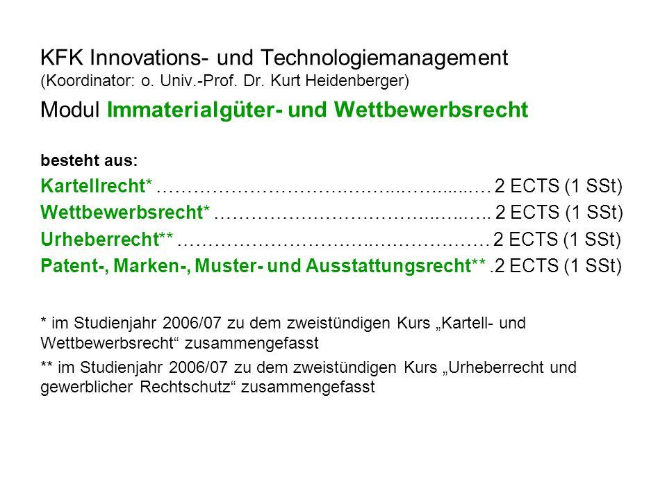 KFK Investments (Koordinator: ao.Univ.-Prof. Mag.