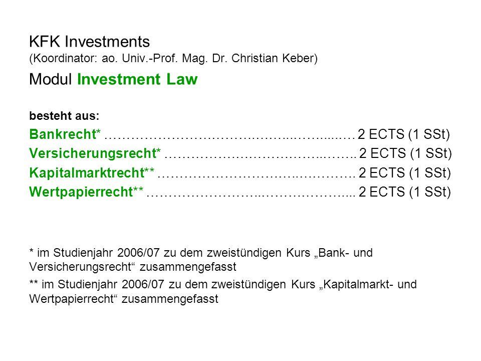 KFK Investments (Koordinator: ao. Univ.-Prof. Mag.