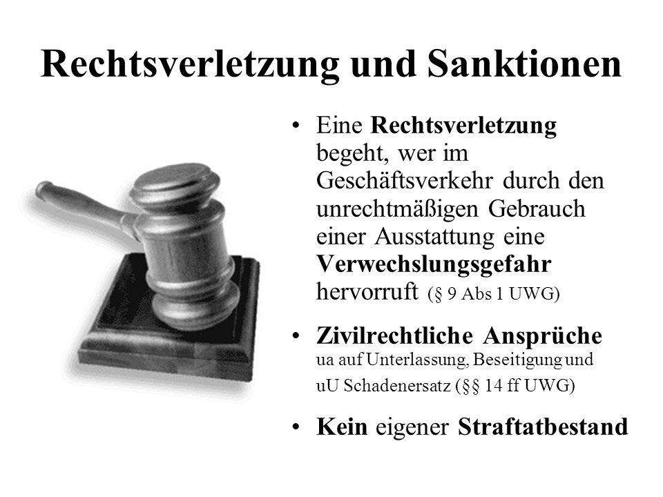 Eine Rechtsverletzung begeht, wer im Geschäftsverkehr durch den unrechtmäßigen Gebrauch einer Ausstattung eine Verwechslungsgefahr hervorruft (§ 9 Abs